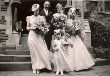 45 Wedding of Ivy and Albert Westcott Mum is brides maid on the right
