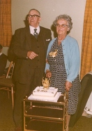 48 Mabel and Harry meaker (Grandparent) at golden wedding in 1968