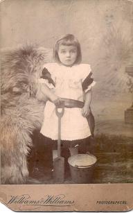 Mabel John (Ann's grandmother) aged three and a half taken around 1895