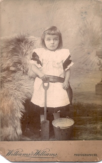 Mabel John (Ann's grandmother) aged three and a half taken around 1895