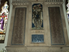 War Memorial inside Alverstoke Parish Church in memory of William Titheridge