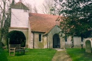 Bighton Parish Church taken in 1992