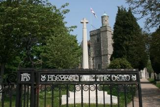 Gate to churchyard at Bishops Waltham