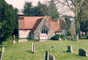 Bramdean Parish Church of St Simon and St Jude taken in 1992