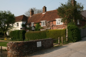 Old houses at Cheriton