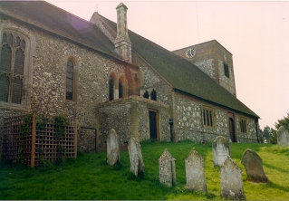 Cheriton Parish Church of St Michael's and All Angels in 1992