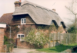 Old house at Cheriton (Kennetts Cottage) 1992