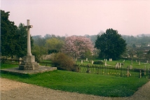 West Meon St John the Evangelist churchyard picture taken April 1992