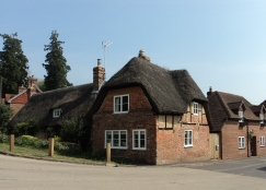 Old houses at West Meon crossroads
