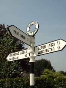 Cross roads at West Meon