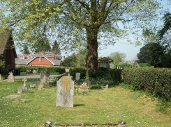 Churchyard at St Barnabas church in Swanmore