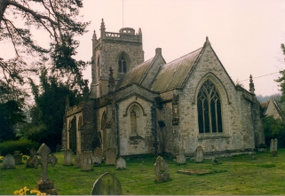 East Tisted Parish church of St James the great opposite Rotherfield park in 1992