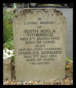 Grave of Charles Bernard and Edith Adela Titheridge in Swanmore churchyard