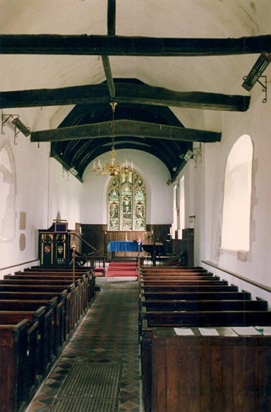 Inside West Tisted Church in April 1992