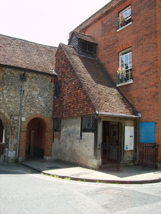 Church of St Swithun over Kingsgate in Winchester