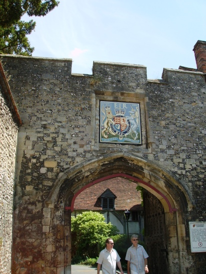 The Priory gate entrance to Winchester Cathedral