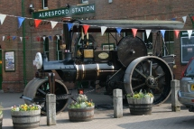 Steam Engine at New Alresford Station (now the start of the Watercress Line)