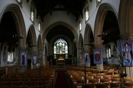 Inside St Joh the Baptist Church in New Alrresford