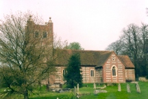 Church of St Mary the Virgin at Old Alresford taken in April 1992