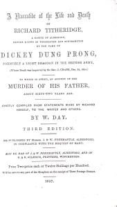 Front Page of the leaflet on Dickey Dung Prong
