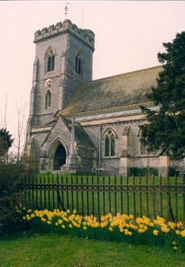 West Meon St John the Evangelist picture taken April 1992