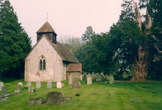 West Tisted Church taken in April 1992