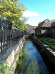 Water flowing through Winchester near Abbey gardens