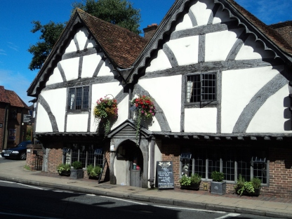1 Chesil Street, Winchester, old house from 1450 now a restaurant