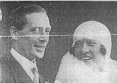 Dion at his marriage to Madge Stuart
