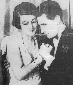 Madge Titheradge (b1887 d1961) with Ivor Novello